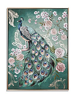 Arthouse Opulent Peacock Capped Canvas