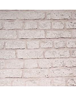 Arthouse Modern Brick Blush Wallpaper