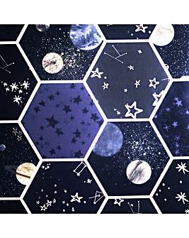 Arthouse Space Hex Multi Wallpaper