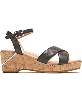 Hush Puppies Maya Qtr Strap Wedge Sandal