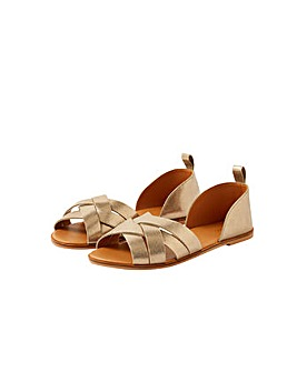 Monsoon COVERED LEATHER CROSSOVER SANDAL
