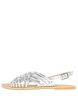 Monsoon Metallic Weave Leather Sandals