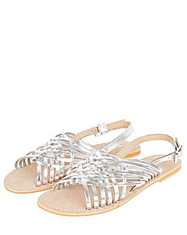 Monsoon METALLIC WEAVE LEATHER SANDAL