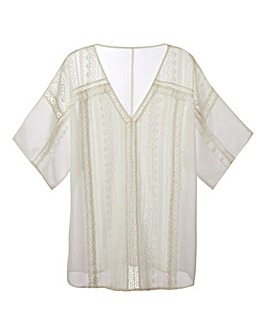 Martine McCutcheon Lace Trim Blouse