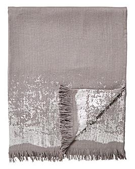 Herringbone Throw with Foil Edging