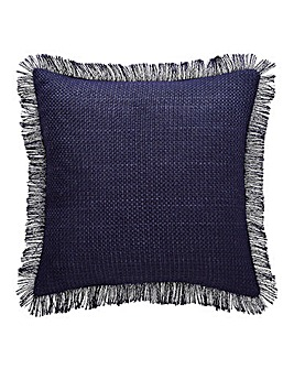 Woven Fringed Cushion