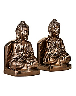Bronze Buddha Book Ends