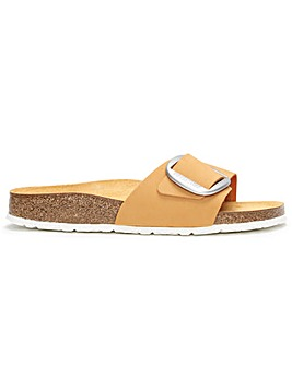 Birkenstock Madrid Big Buckle Nubuck Leather Mule