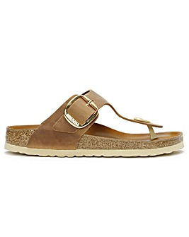 Birkenstock Gizeh Big Buckle Nubuck Leather Toe Post Sandals