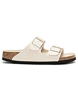Birkenstock Arizona Metallic Microfiber Two Bar Mules
