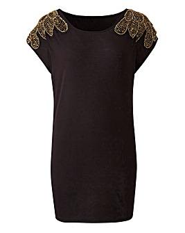 Premium Embellished Shoulder Top