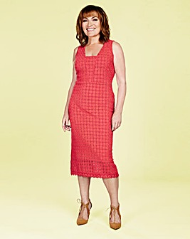 Lorraine Kelly Lace Midi Dress