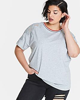 Sport Trim Lace Sweatshirt