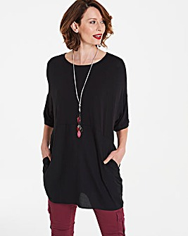 Black Colourblock ITY Tunic