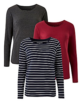 Pack 3 Long Sleeve Tops