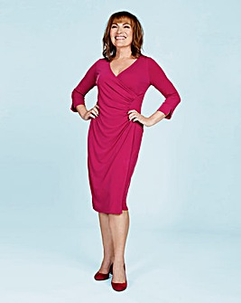 Lorraine Kelly Wrap Front Midi Dress
