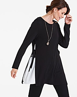 Longer Length Woven Side Insert Tunic