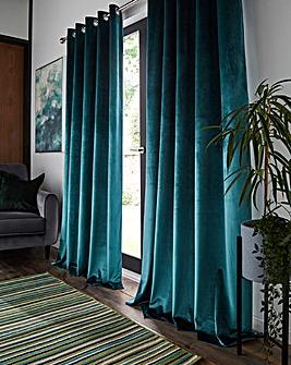 Lusso Velveteen Eyelet Curtains