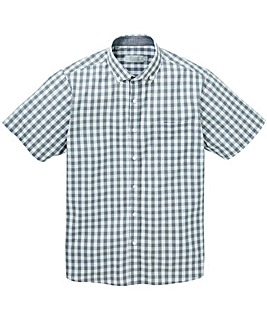 W&B Grey Check Short Sleeve Shirt R