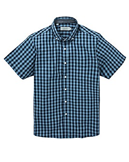 W&B Navy Check Short Sleeve Shirt R