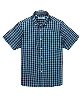 W&B Navy Check Short Sleeve Shirt R