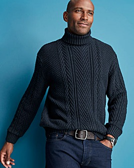 Navy Roll Neck Jumper R