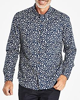 Navy Long Sleeve Design Shirt