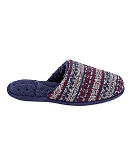 Totes Isotoner Pillow Step Fairisle Mule