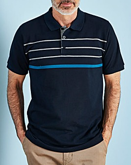 W&B Navy Short Sleeve Polo Shirt L