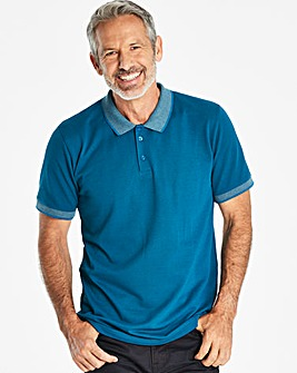 W&B Teal Short Sleeve Polo Shirt L