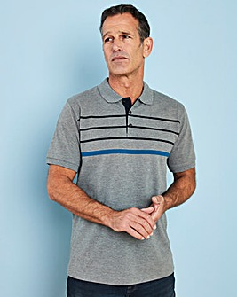 W&B Grey Short Sleeve Polo Shirt R