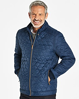 W&B Navy Quilted Jacket R