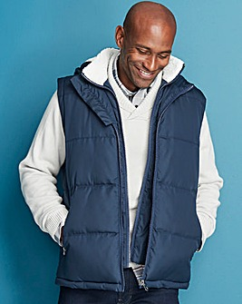 W&B Navy Padded Gilet Regular