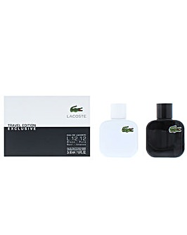 Eau de Lacoste L.12.12 Blanc  Noir Eau De Toilette Gift Set For Him