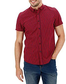 Red Check Short Sleeve Gingham Shirt