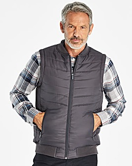 W&B Charcoal Padded Gilet Regular