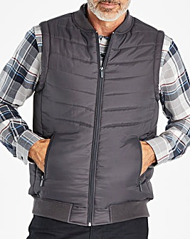 W&B Charcoal Padded Gilet R