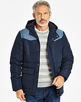 W&B Navy Padded Jacket R