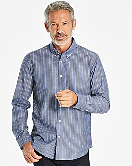 W&B Blue Stripe Long Sleeve Shirt R