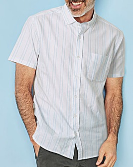 W&B Blue Stripe Short Sleeve Shirt R