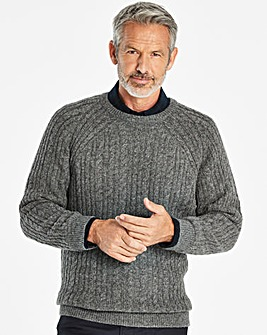 W&B Grey Crew Neck Jumper R