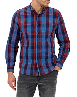 Multi Check Long Sleeve Gingham Shirt