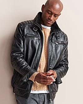 W&B Black Leather Aviator R