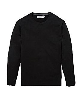 Black Wool Mix Crew Neck Jumper R