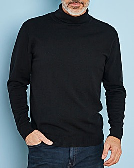 Black Wool Mix Roll Neck Jumper R