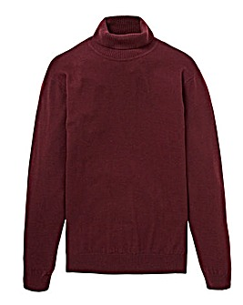 W&B Mulberry Wool Mix Roll Neck Jumper R