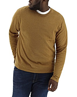 Camel Rolled Crew Neck Jumper Regular