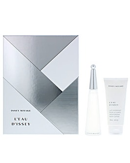 Issey Miyake LEau dIssey Eau De Toilette And Body Lotion Gift Set For Her