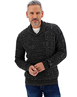 Charcoal Shawl Collar Jumper
