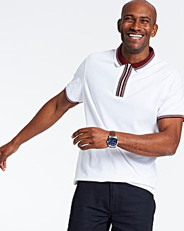 Zip Neck Pique Polo Shirt
